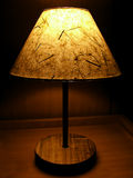 Handmade paper night lamp Stock Image