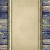 Handmade paper on old wood plank wall background Royalty Free Stock Image