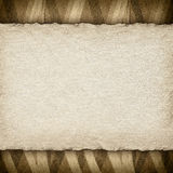 Handmade paper on patterned background Stock Images