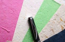 Handmade Paper and Pen Stock Photos