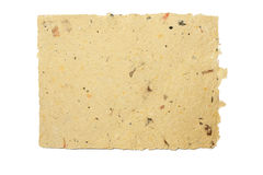 Handmade paper. Recycled handmade paper with isolated background Royalty Free Stock Image