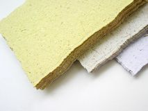 Handmade paper Stock Photography