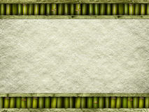 Handmade paper sheet, bamboo and planks Stock Image