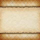 Handmade paper sheet on patterned background Stock Images