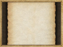 Handmade paper sheet and picture frame Stock Photography