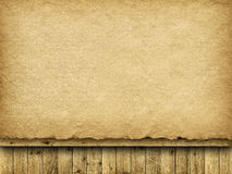 Handmade paper sheet and planks Royalty Free Stock Photography