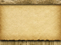 Handmade paper sheet and planks Stock Image