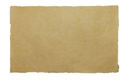 Handmade paper sheet on white isolated background Stock Image