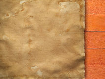 Handmade paper sheet on wooden background Royalty Free Stock Images