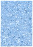Handmade paper - skyblue. With white organic elements - grainy surface royalty free stock image