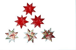 Handmade paper star decoration Stock Images