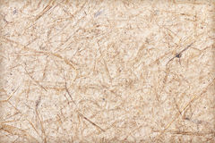 Handmade paper with straw texture Stock Images