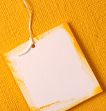Handmade paper tag Royalty Free Stock Images