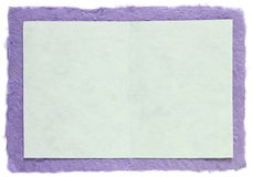 Handmade Paper With Blank Note Royalty Free Stock Photo