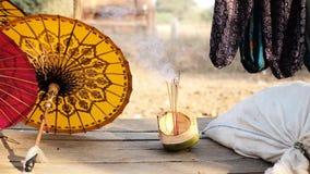 Handmade parasol dla bubla w Tajlandia zbiory