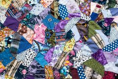 Handmade patchwork background pretty closeup royalty free stock images