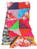 Handmade patchwork and batik scarf isolated Stock Photos