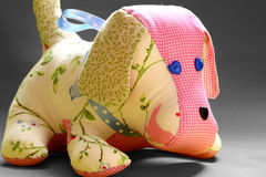 Handmade patchwork dog toy Royalty Free Stock Photography