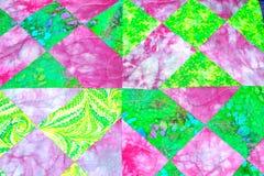handmade patchwork kołderki tekstury backround Obraz Royalty Free