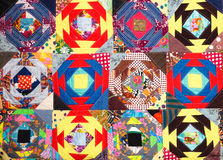 Handmade patchwork quilt Royalty Free Stock Photo