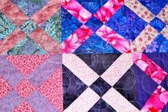 handmade patchwork quilt texture backround Stock Photography
