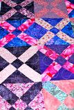 Handmade patchwork quilt texture backround Royalty Free Stock Images