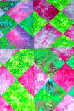 handmade patchwork quilt texture backround Stock Images