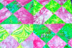 handmade patchwork quilt texture backround Royalty Free Stock Image