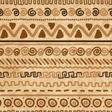 Handmade pattern with ethnic geometric ornament Stock Photos