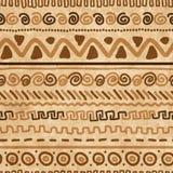 Handmade pattern with ethnic geometric ornament Stock Photos