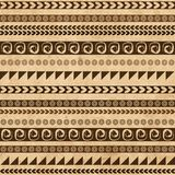 Handmade pattern with ethnic geometric ornament Royalty Free Stock Photography