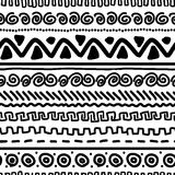 Handmade pattern with ethnic geometric ornament Stock Image