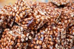 Handmade peanut candy royalty free stock photos