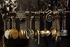Handmade pendants Gothic iron. In Prague Royalty Free Stock Photography
