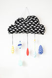 handmade pillow in the shape of rain clouds Stock Images