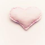 Handmade pink heart Stock Photo