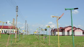 Handmade pinwheel set stock video footage