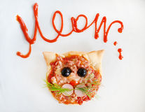 Handmade pizza. Royalty Free Stock Images