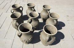 Handmade pots Stock Photo