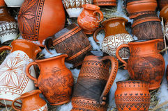 Handmade pottery royalty free stock photo