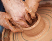 Handmade pottery Stock Photos