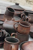 Handmade pottery Stock Image