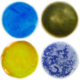 Handmade pottery circles Royalty Free Stock Photos