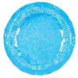 Handmade pottery plate Royalty Free Stock Image