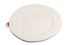Handmade pottery plate Stock Photo
