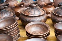 Handmade pottery Royalty Free Stock Photos
