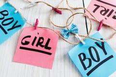 Handmade powitanie girlanda dla nowonarodzonych dzieciaków Zdjęcia Royalty Free