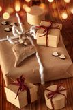 Gifts with heart for christmas Royalty Free Stock Photo