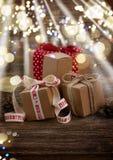 Handmade prezentów pudełka Zdjęcia Royalty Free