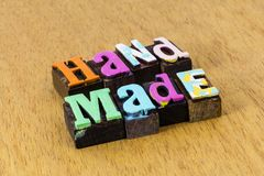 Free Handmade Product Custom Design Craftsmanship Art Illustration Crafted Royalty Free Stock Photography - 164016777